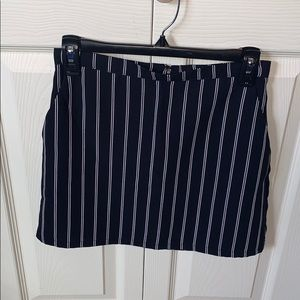 Blue and white stripped A- Line skirt